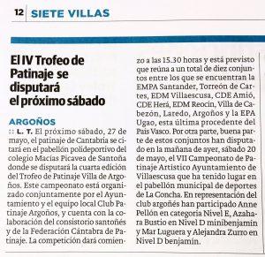 IV Trofeo Patinaje Villa de Argoños