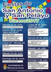 Fiestas de San Antonio y San Pelayo en Cicero 2017