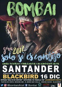 BOMBAI en concierto en Santander