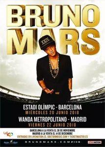 Bruno Mars en concierto en Barcelona y Madrid