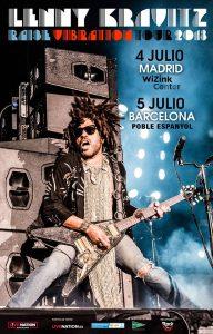 Lenny Kravitz conciertos en julio en Madrid y Barcelona