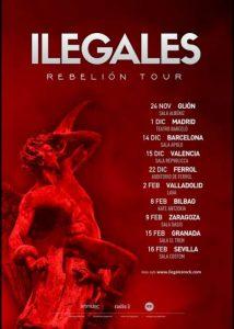 ILEGALES en concierto en Bilbao