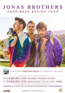 Jonas Brothers confirman dos conciertos en España.