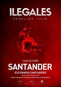 ILEGALES en concierto en Santander